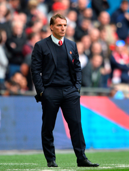 Under fire: Some Pool fans are questioning Brendan Rodgers