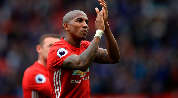 On his way: Ashley Young is leaving Old Trafford