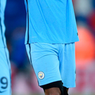 City return: Captain Vincent Kompany was back in action