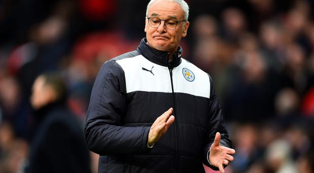 Brave face: Leicester City manager Claudio Ranieri