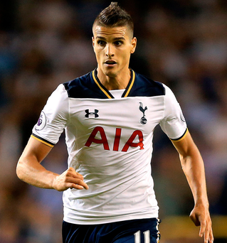Sidelined: Erik Lamela hasn't played for Spurs since 2016