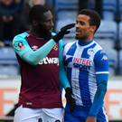 Gobsmacked: Arthur Masuaku was sent off for spitting