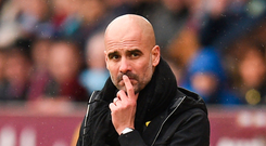 Showdown: Manchester City manager Pep Guardiola
