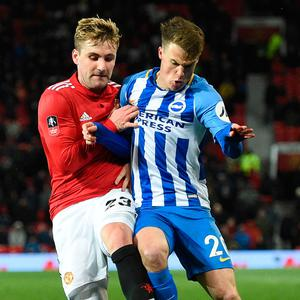Hauled off: Luke Shaw was substituted at half-time