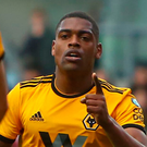Winning goal: Ivan Cavaleiro was on target for Wolves