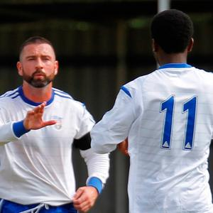 On mission: Walthamstow FC player/manager Ryan Maxwell is hoping to make club history and reach the third qualifying round of the FA Cup
