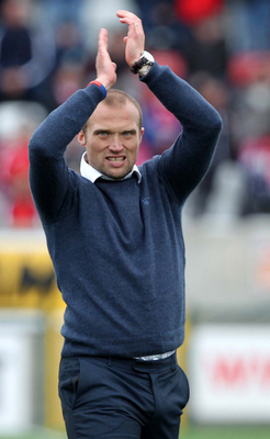 In charge: Warren Feeney won his first game as Newport boss