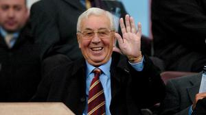 Tributes have poured in following the death of former Aston Villa chairman Sir Doug Ellis at the age of 94 (Chris Radburn/PA Images)