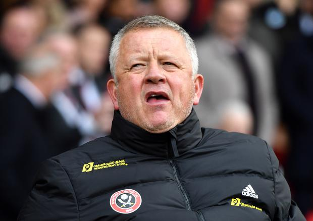 Sheffield United manager Chris Wilder says he would respect any player not wishing to be involved in Project Restart on health grounds (Anthony Devlin/PA)