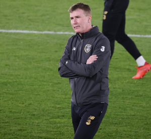 Bare bones: Stephen Kenny was without 13 players for the game against Wales