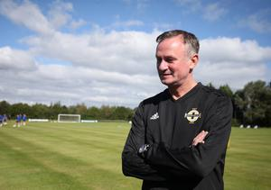Good shape: Michael O'Neill has transformed the NI set-up in his reign