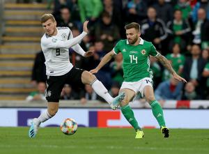 Dependable asset: Stuart Dallas won all but one of his NI caps under Michael O'Neill