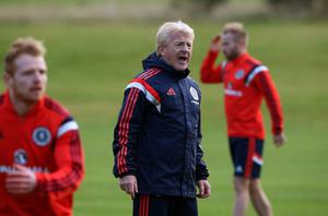 Home patch: Gordon Strachan is confident over Parkhead