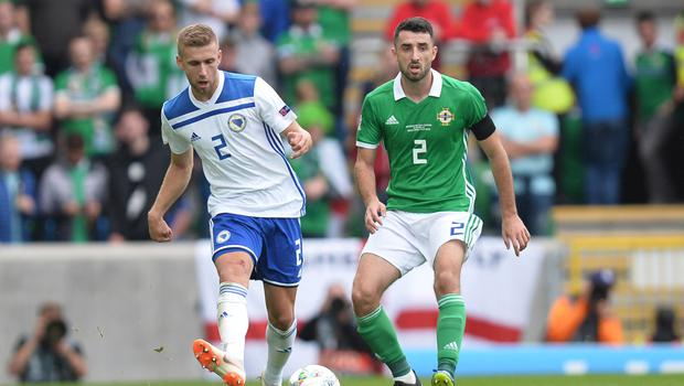 Confident: Conor McLaughlin knows his side rattled the Dutch