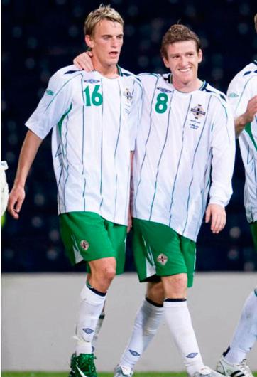 Forever friends: Dean Shiels and Steven Davis played for Northern Ireland at various levels