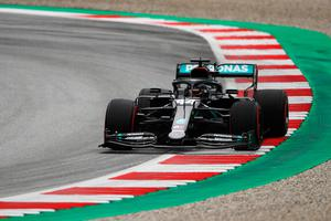 Bumpy ride: Lewis Hamilton during practice for the F1 Grand Prix in Austria yesterday. Photo: Getty Images