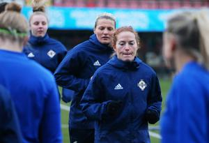 Historic ambition: Marissa Callaghan is hoping to help Northern Ireland secure a Euro play-off berth
