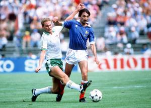 Billy Hamilton in action for Northern Ireland against France at the World Cup