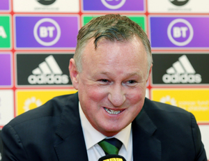 Feeling good: Michael O'Neill happy to see NI players shine