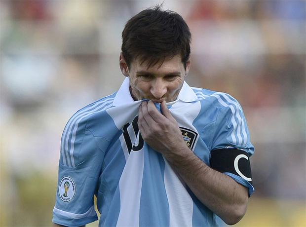 Lionel Messi pictured during the match with Bolivia