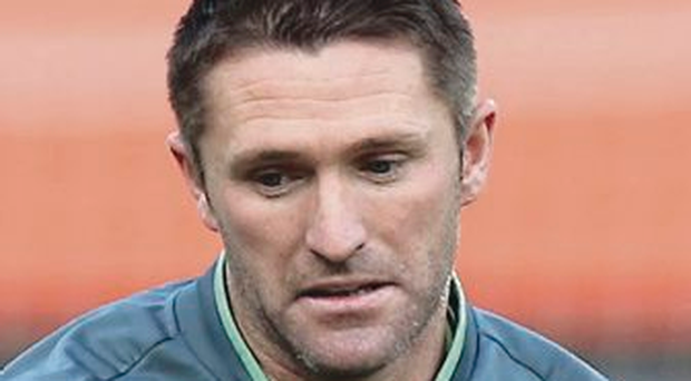 All alone: Robbie Keane could play as a lone striker in Germany