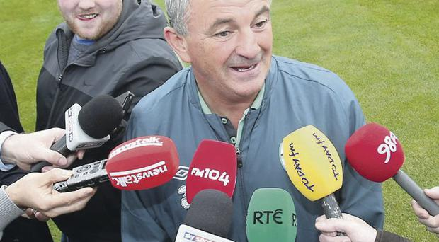 Overlooked: Temporary manager Noel King is not thought to be in the running to take charge of the Republic on a full-time basis