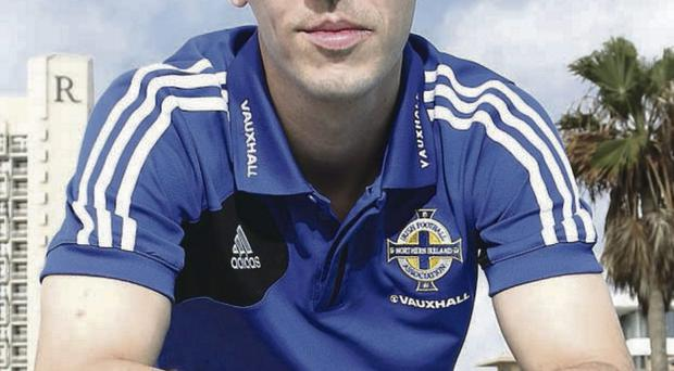 Northern Ireland's Chris Baird after Sundays press conference in Tel Aviv ahead of Tuesday nights 2014 World Cup Qualifier against Israel.