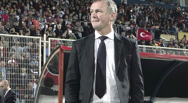 Tough job: Northern Ireland manager Michael O'Neill in Turkey on Friday night
