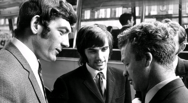 Pat Jennings, George Best and Billy Bingham meet for international duty in 1969