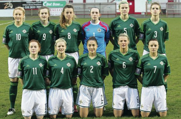 Rallying call: Northern Ireland women's manager Alfie Wylie wants fans to roar on captain Ashley Hutton and the rest of the girls this evening
