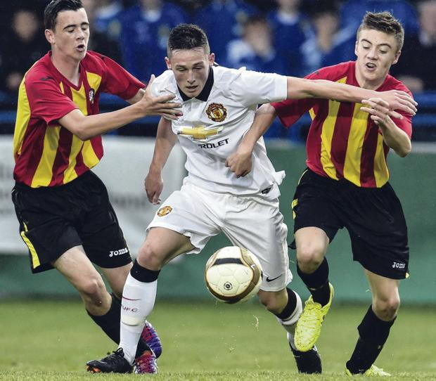 Glengormley lad Jordan Thompson was man of the match for Manchester United in the Premier final