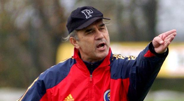 Familiar face: Anghel Iordanescu has taken over Romania for the third time after spells between 1993-98 and 2002-04