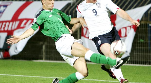 Not coming: Wayne Rooney's England have turned down an offer to play the first match at the new Windsor Park