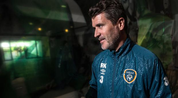 Straight talk: Roy Keane after Republic training yesterday