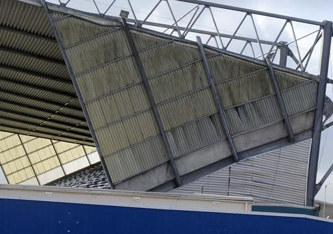 Visible damage: The IFA are awaiting a report into the Kop