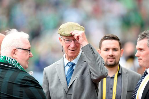 Jack Charlton was a special guest at the Aviva Stadium in Dublin yesterday