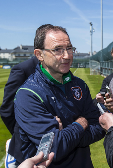Road to recovery: Republic of Ireland boss Martin O'Neill talks to the media yesterday