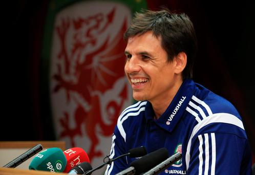 On the charge: Wales boss Chris Coleman says the players are so close to achieving something very special