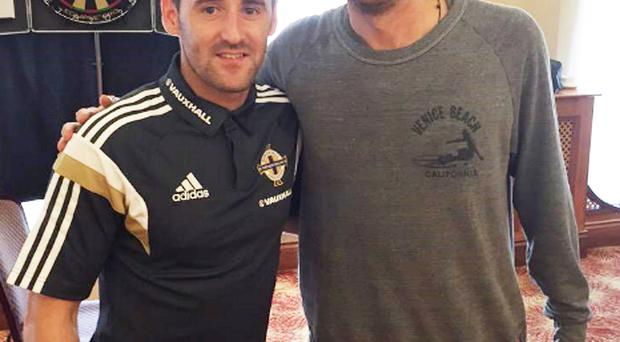 Pop-tastic: Niall McGinn with Gary Lightbody