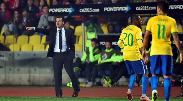 Sick as a parrot: Brazil boss Dunga said a virus was one of the main reasons for his side's exit from the Copa America