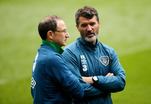 Double act: Should Martin O'Neill leave the Republic manager's job assistant Roy Keane could step up