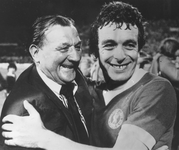 Anfield heroes: Bob Paisley with Ian Callaghan