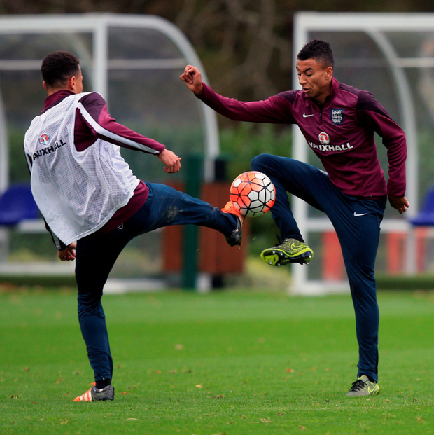 Young lion: Jesse Lingard could win his first England cap tonight