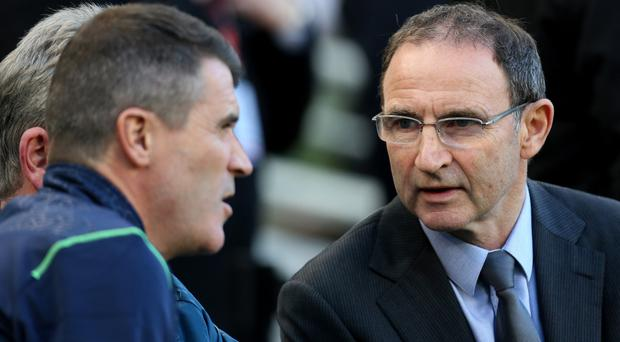 Top team: Republic boss Martin O'Neill and assistant Roy Keane have both been linked with a move to club management after this summer's Euros