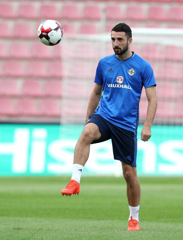 Back in favour: Conor McLaughlin returned to the NI line-up in Prague