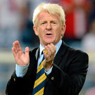 Staying put: Scotland manager Gordon Strachan