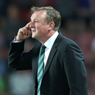 Head honcho: Michael O'Neill is focused only on Northern Ireland's bid to reach the 2018 World Cup and says he is not actively seeking a job elsewhere