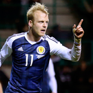 Goal getter: Steven Naismith celebrates his equaliser