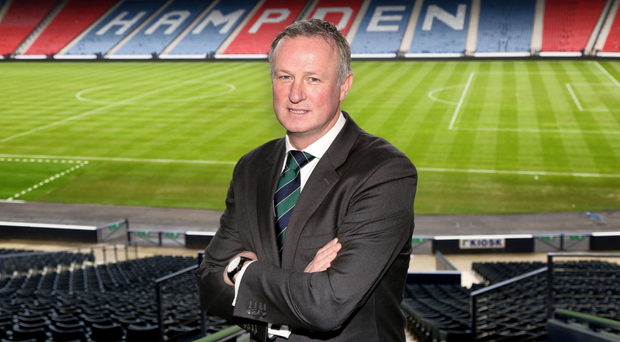 Fan club: Michael O'Neill has some admirers at Hampden Park and could be on the SFA's radar after Gordon Strachan's tenure at Scotland ended