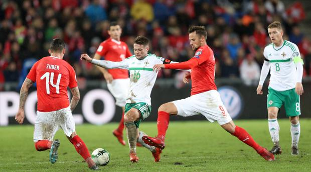 Official complaint: Oliver Norwood, taking on Steven Zuber and Haris Seferovic